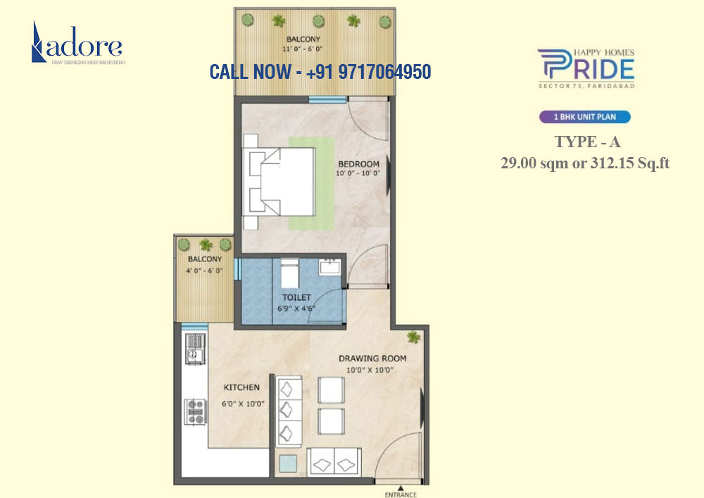 1BHK (Unit Type A)
